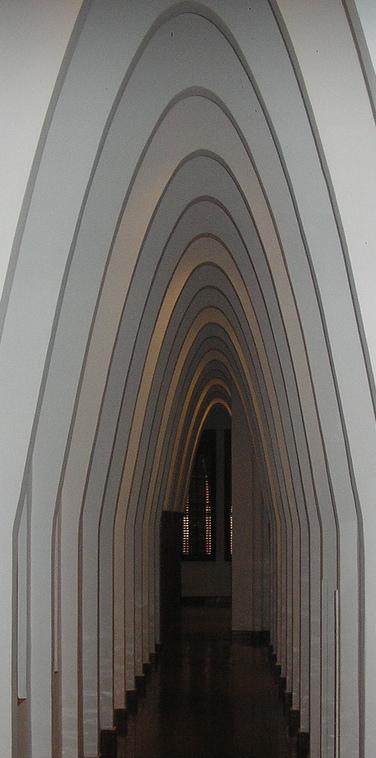 Arcs catenaris del Col·legi de les Teresianes.